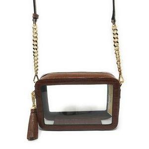 Michael Kors Medium Clear Camera Crossbody Bag